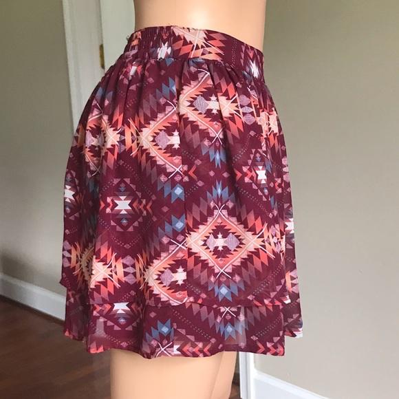 Arizona Jean Company Dresses & Skirts - Arizona Jean Co. Plum Double Layer Lining Skirt